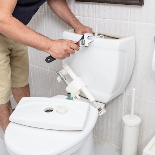 Blocked toilet plumbing emergency