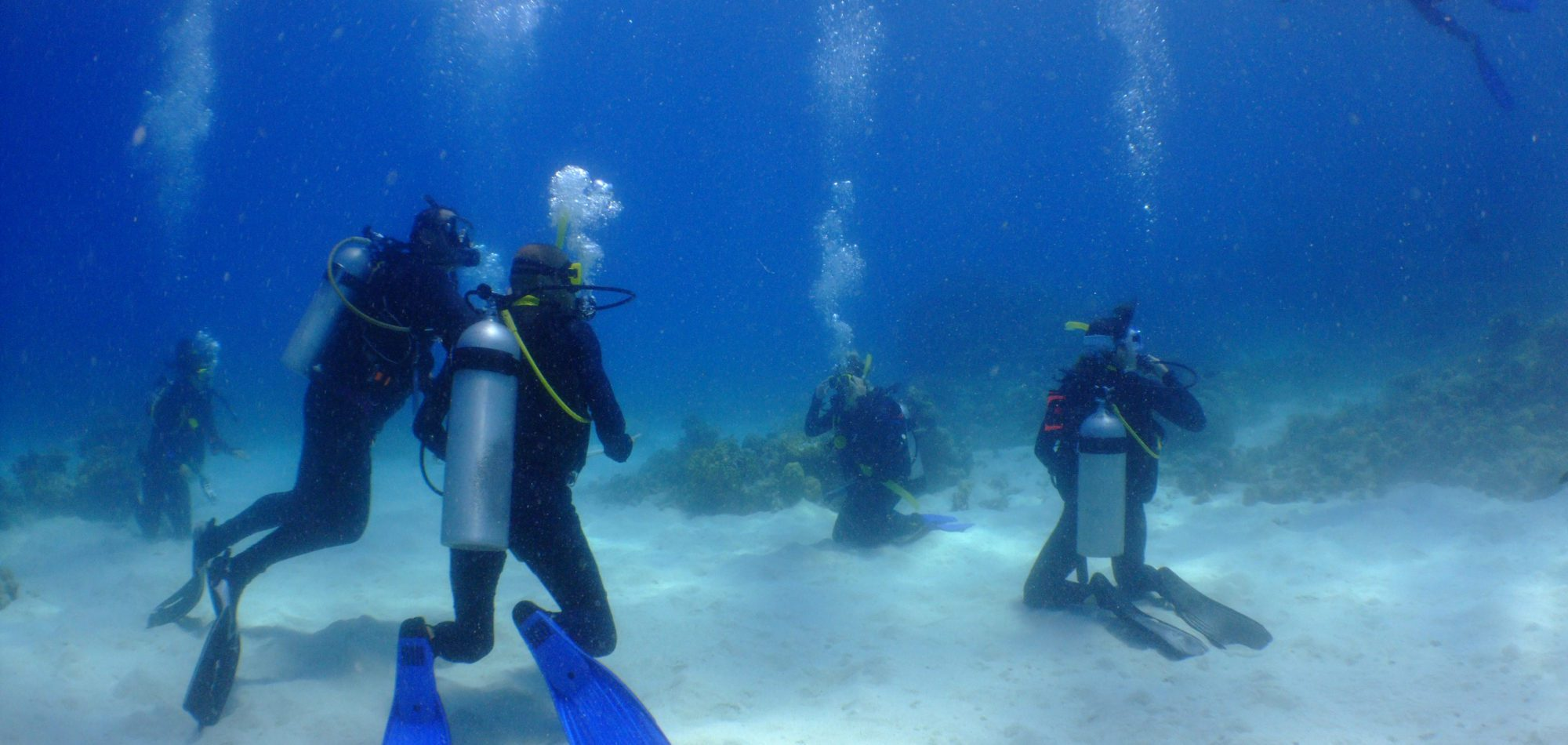 Cairns, learn to scuba dive - new divers doing skills training in pool