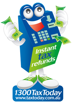 """Tax Refunds<span class=""""secondline"""">on the Spot!</span>"""